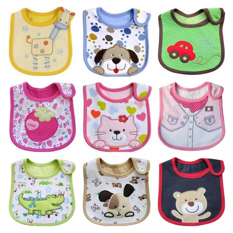 1PCS Newborn Baby Bibs Waterproof Bib Bandana Baberos Bibs For Kids Girls Boys Bib Baby Clothing