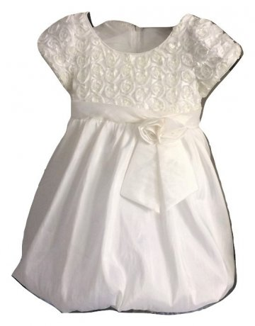Rochie din sifon tip gogosar ivory